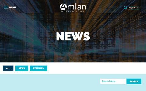 Screenshot of Press Page amlan.com - News - Amlan International - captured Oct. 3, 2018