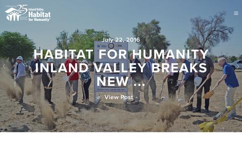 Screenshot of Press Page habitativ.org - Latest News — HABITAT FOR HUMANITY INLAND VALLEY - captured Oct. 19, 2016