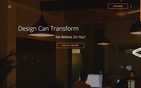 Screenshot of Home Page prismicreflections.com - Prismic Reflections: Brand Identity and UX/UI Design Studio - captured May 15, 2018