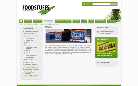 Screenshot of Pricing Page foodstuffs-si.co.nz - Pricing - captured Sept. 18, 2014