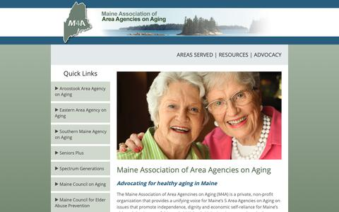 Screenshot of Home Page maine4a.org - M4A - Maine Association of Area Agencies on Aging - captured Nov. 12, 2018