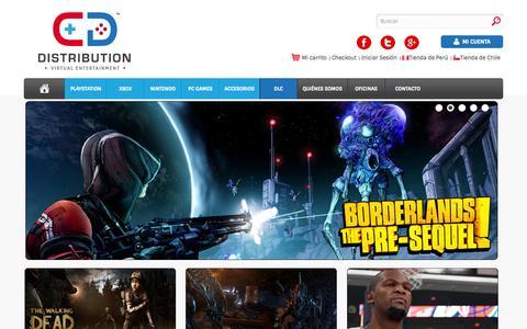 Screenshot of Home Page cddistribution.com - CD Distribution - captured Sept. 23, 2014