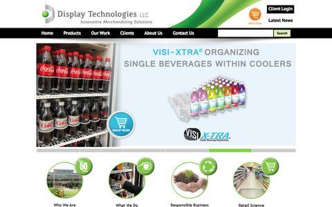 Screenshot of Home Page display-technologies.com - Display Technologies - Home Page - captured Feb. 9, 2016