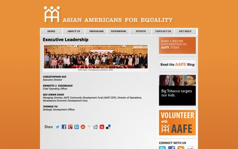 Screenshot of Team Page aafe.org - Executive Leadership | Asian Americans for Equality - captured Feb. 6, 2016