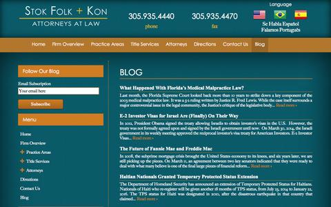 Screenshot of Blog stoklaw.com - Blog | Stok Folk + Kon - captured Oct. 7, 2014