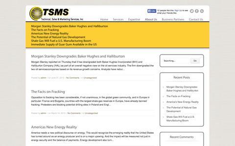 Screenshot of Blog tsmsinc.info - Blog | TSMS Inc. | Just another WordPress site - captured Oct. 6, 2014