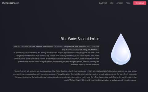 Screenshot of About Page bluewatersports.com - Blue Water Sports - E-commerce Excellence - captured Oct. 10, 2017