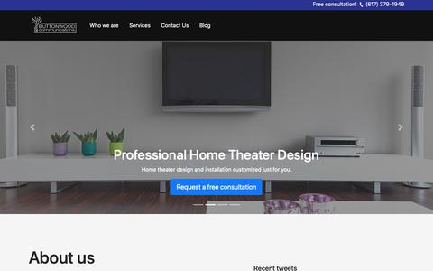Screenshot of Home Page buttonwoodinc.com - Home Automation | Home Theater | Security Systems | Boston, MA - captured Oct. 7, 2018
