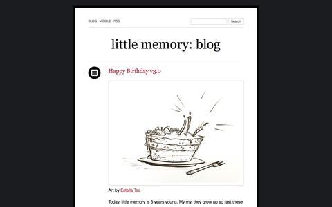 Screenshot of Blog thelittlememory.com - little memory: blog - captured July 14, 2019