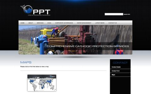 Screenshot of Maps & Directions Page ppt.co.za - Contact Us | Maps | Pipeline Performance Technologies - captured Oct. 2, 2014