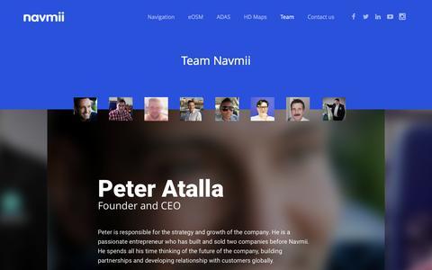 Screenshot of Team Page navmii.com - Team Full Profile - Navmii World - captured April 8, 2017