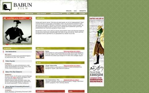 Screenshot of Home Page babun.org - Babun Film - captured Oct. 5, 2014
