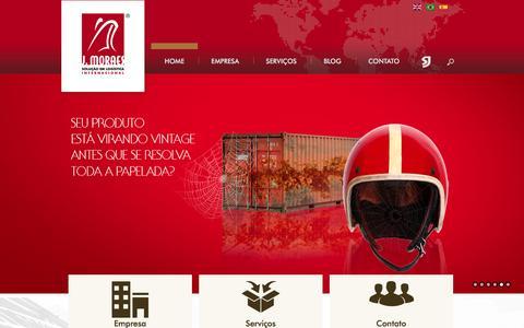 Screenshot of Home Page jmoraes.com.br - J. Moraes - Solução em Logística Internacional - captured Feb. 3, 2016