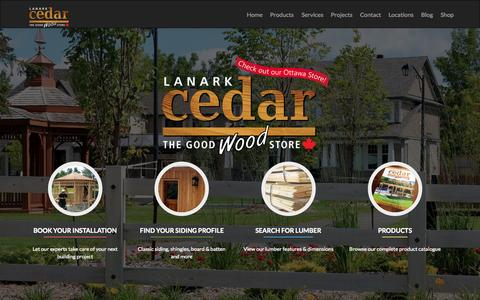 Screenshot of Home Page lanarkcedar.com captured June 17, 2015