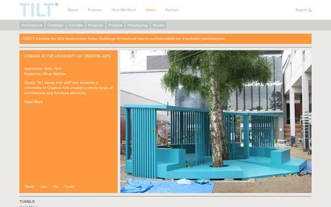 Screenshot of Press Page studiotilt.com - TILT News - captured Oct. 9, 2014