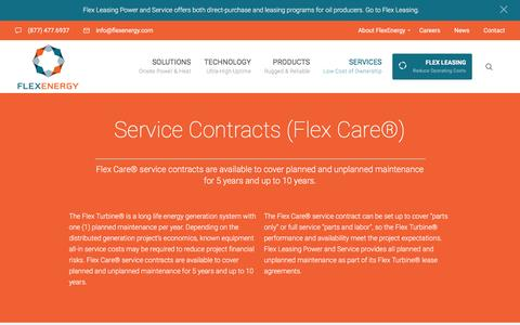 Screenshot of Services Page flexenergy.com - Services - FlexEnergy - captured Nov. 25, 2016