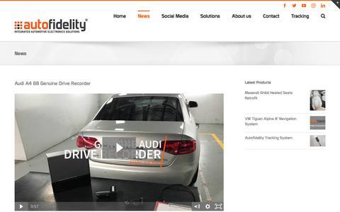 Screenshot of Press Page autofidelity.com.au - News | autofidelity - captured May 31, 2017