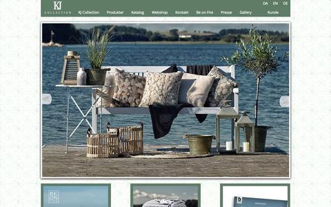 Screenshot of Home Page kj-collection.dk - KJ Collection - captured June 21, 2015