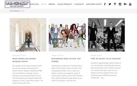 Screenshot of Blog fashionizer.com - Company Blog   Fashionizer Couture Uniforms   London - captured Jan. 10, 2018