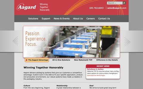 Screenshot of Home Page aagard.com - Aagard - captured Oct. 6, 2014