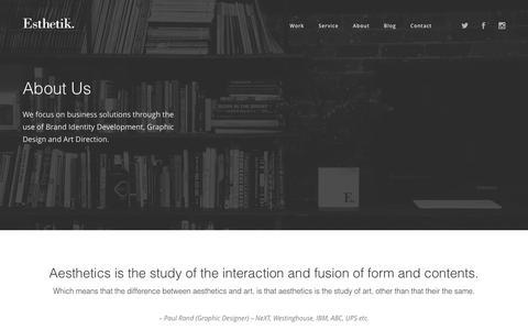 Screenshot of About Page esthetik.com.au - About Us - Esthetik - captured July 14, 2016