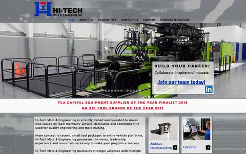 Screenshot of Home Page hitechmold.com - Hi-Tech Mold & Engineering, Inc | Plastic Injection Molding Michigan - captured Dec. 14, 2018