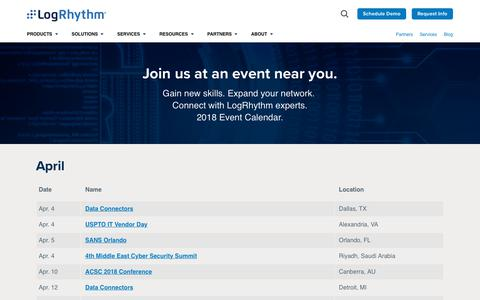 Events,Tradeshows and Webcasts | LogRhythm