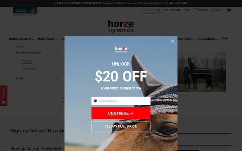Screenshot of About Page horze.com - About - Horze - captured Nov. 8, 2019
