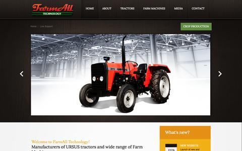 Screenshot of Home Page farmalltechnology.com - FarmAll Technology - captured Oct. 5, 2014