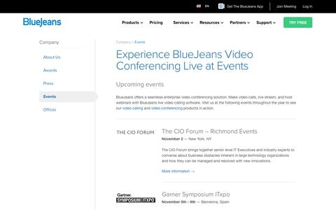 Experience BlueJeans Video Conferencing Live at Events