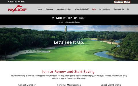 Screenshot of Signup Page mygolfnus.com - Join Myrtle Beach Membership Club | Discount Golf | MyGolf - captured Oct. 19, 2018