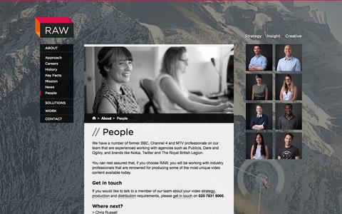 Screenshot of Team Page rawproductions.tv - People | Video Production Agency London | RAW Productions - captured Oct. 26, 2014
