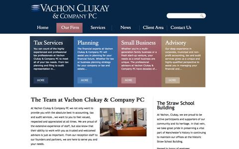 Screenshot of Team Page vachonclukay.com - The Team at Vachon Clukay & Company PC | Vachon Clukay & Company PC - captured Oct. 9, 2014