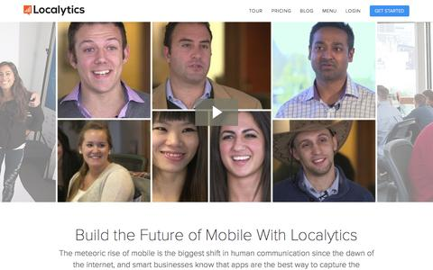 Screenshot of Jobs Page localytics.com - Jobs | Localytics - captured Oct. 14, 2015