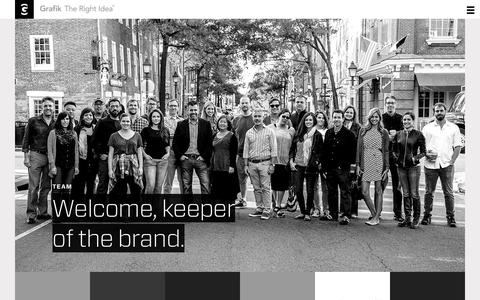 Screenshot of Team Page grafik.com - Unique Brands Are Created By Unique People   |   Grafik - captured Dec. 13, 2015