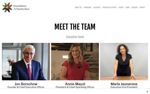 Screenshot of Team Page foundationforpuertorico.org - Meet the Team | FPR - captured Nov. 20, 2018
