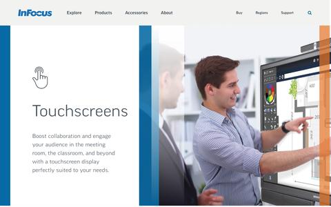 Screenshot of infocus.com - InFocus | Touchscreens - captured Dec. 9, 2016
