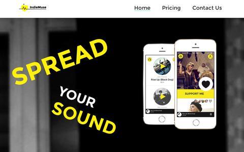 Screenshot of Home Page coteries.com - Coteries.com, Coteries | Spread Your Sound - captured Sept. 30, 2014