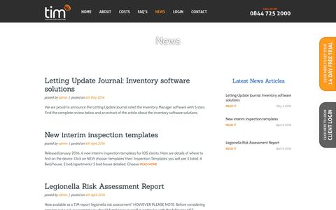 Screenshot of Press Page theinventorymanager.co.uk - The Inventory Manager - News - captured Aug. 14, 2016