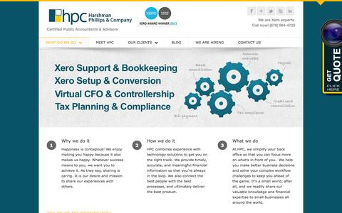 Screenshot of Services Page hpccpa.com - Tech-Driven Accounting/CPA Firm - Cloud Accounting Services - captured Oct. 1, 2014