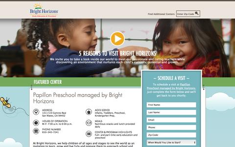 Screenshot of Landing Page brighthorizons.com - Bright Horizons® | Child Care, Back-Up Care, Early Education, and Work/Life Solutions - captured Feb. 1, 2017