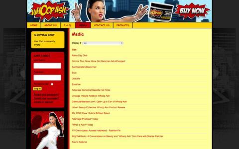 Screenshot of Press Page whoopash.com - Media - captured Sept. 30, 2014