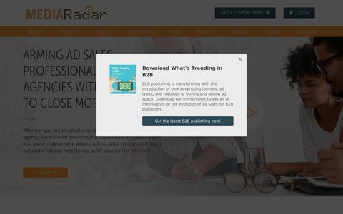 Screenshot of Home Page mediaradar.com - Home   MediaRadar - captured April 12, 2017