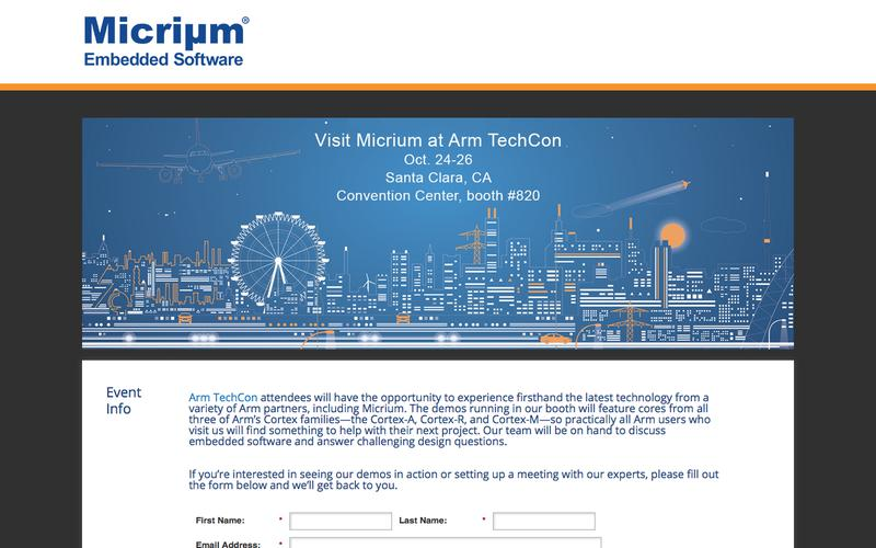Arm TechCon | Micrium