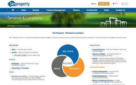 Screenshot of Services Page simpropertygroup.com - Sim Property's complete range of services & locations | Sim Property - captured July 22, 2016