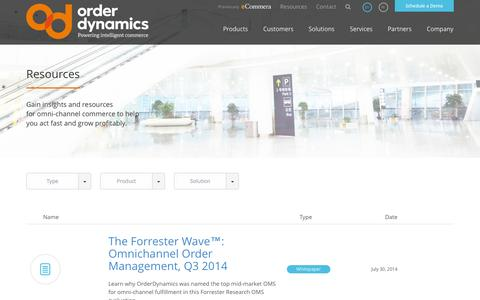 Screenshot of Case Studies Page ecommera.com - Retail and Commerce Resources « OrderDynamics - captured Sept. 15, 2014
