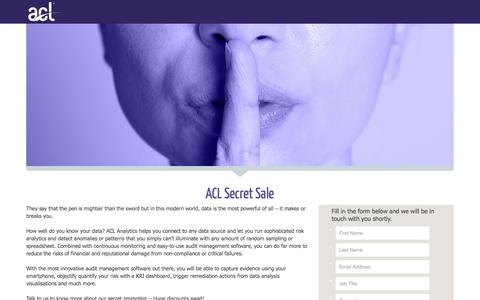 Screenshot of Landing Page acl.com - ACL Secret Sale - captured April 1, 2017