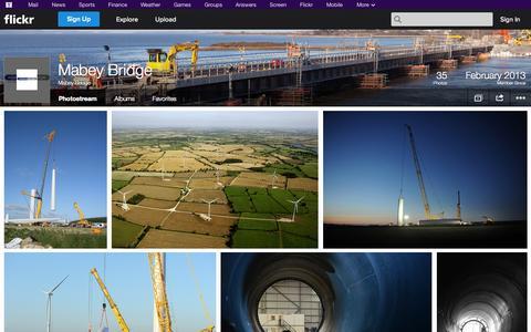 Screenshot of Flickr Page flickr.com - Flickr: Mabey Bridge's Photostream - captured Oct. 23, 2014
