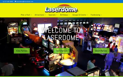 Screenshot of Home Page laserdome.com - Laserdome | Birthday Parties, Youth Groups, Corporate Events - captured Dec. 7, 2018