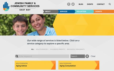 Screenshot of Services Page jfcs-eastbay.org - JFCS East Bay Services - JFCS East Bay - captured Oct. 16, 2017